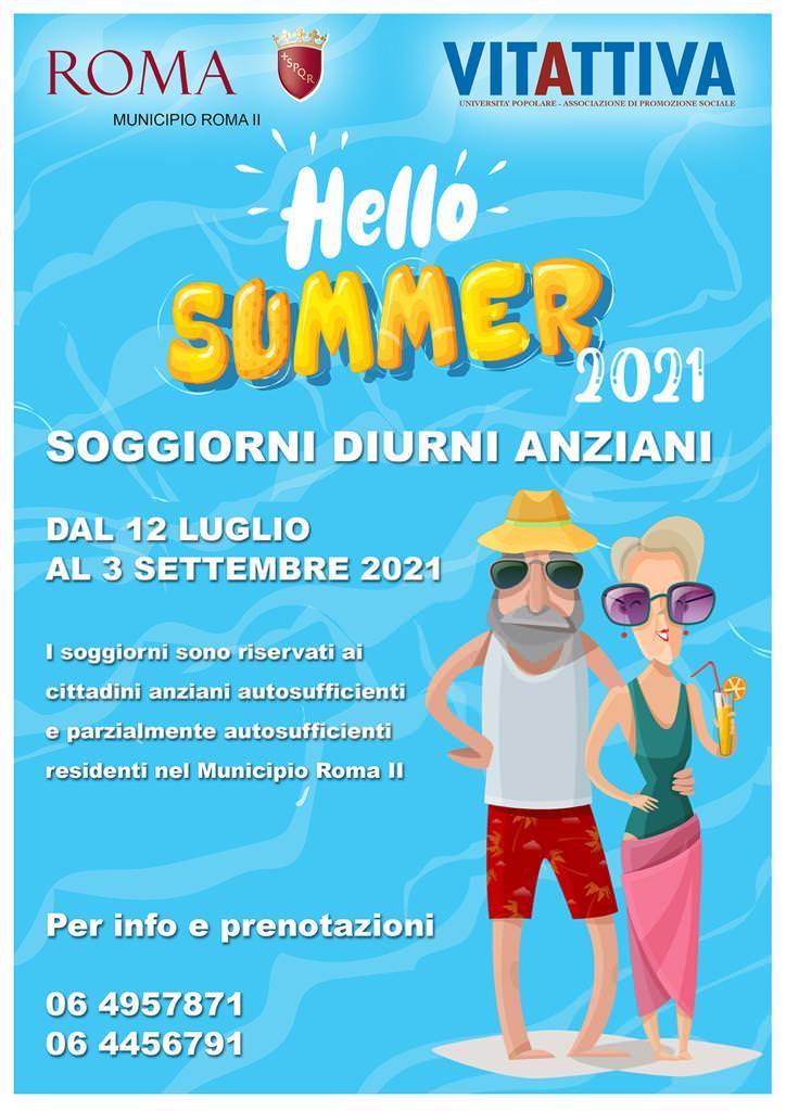 Hello Summer 2021 - Soggiorni Diurni Anziani - Municipio Roma II